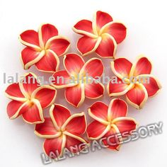 60x Charm Red Fan Polymer Clay Cane Nail Art 5.2cm 250016-in ...