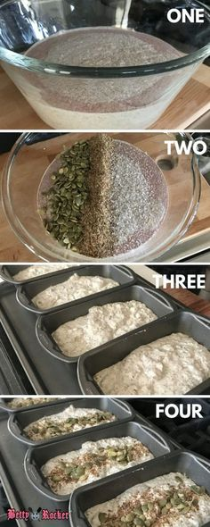 This is going to be tons of work Buckwheat Bread (gluten-free, dairy-free, egg-free) - Betty Rocker Dairy Free Eggs, Dairy Free Recipes, Egg Free, Gluten Free Egg Rolls, Whole Foods, Whole Food Recipes, Cooking Recipes, Cooking Tips, Drink Recipes