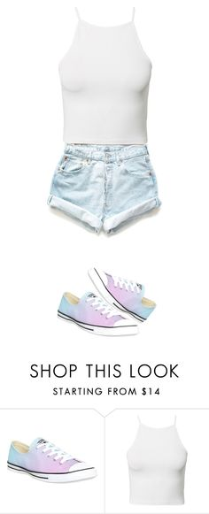"""""""Hot summer day..."""" by ashleybobrowski ❤ liked on Polyvore featuring Converse, Estradeur and Levi's"""