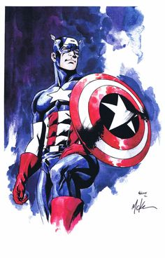 Captain America by Mike McKone