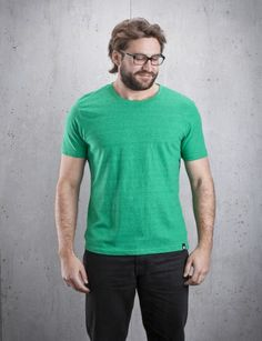 Recycled T-Shirt Basic Green Shirts Social Eco Wear