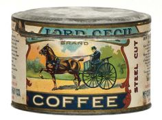 Lord Cecil Coffee Tin | Antique Advertising Value and Price Guide