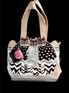 "Laurel Burch Tres Gatos ""My Three Cats"" Canvas Tote Bag - Great #gift idea!  http://stores.ebay.com/Lady-Lindas-Loft?_rdc=1 #LadyLindasLoft"