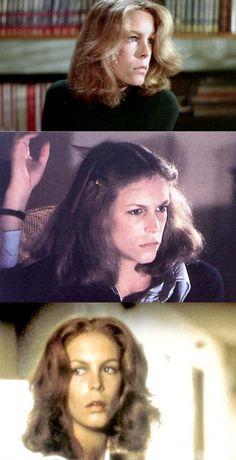 "Jamie Lee Curtis as Laurie Strode in ""Halloween & Halloween II"" movies laurie Halloween Jamie, Halloween Ii, Scary Movies, Horror Movies, Funny Movies, Jamie Lee Curtis Young, Halloween Stories, Slasher Movies, Janet Leigh"