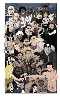 The WWE Roster by @PTPfan