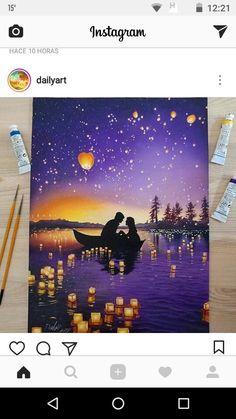 Super Painting Ideas On Canvas Easy Simple Etsy Ideas Galaxy Painting, Galaxy Art, Disney Kunst, Disney Art, Tangled Painting, Art Sketches, Art Drawings, Pencil Drawings, Disney Paintings