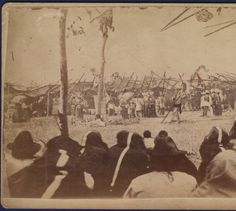 1890 photo of Sioux Sun Dance