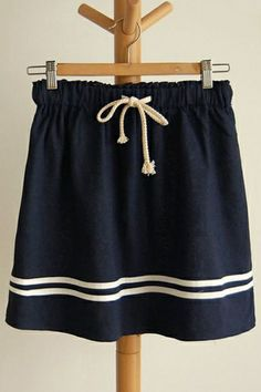 Salior Drawstring Mini Skirt OASAP.com