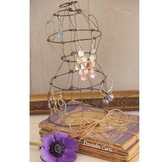 Handmade Wire mannequin as earrings holder or homedecor by Daniela Corti Fili di poesia