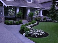 Great looking walkway and front yard landscaping.