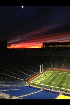 Michigan football stadium--The Big House, Ann Arbor University Of Michigan Athletics, Colleges In Michigan, Michigan Wolverines Football, U Of M Football, Football Stadiums, Detroit Vs Everybody, Michigan Go Blue, Sports Stadium, Go Big Blue