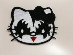 Kitty Rock Star Embroidered Iron On Patch Cartoon by GoMonogram
