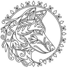 Grow wild - wolf urban threads: unique and awesome embroidery designs Embroidery Flowers Pattern, Paper Embroidery, Hand Embroidery Designs, Flower Patterns, Embroidery Stitches, Machine Embroidery, Embroidery Software, Doily Patterns, Embroidery Kits