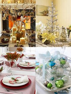 Modern Christmas Table Decorations For 2012