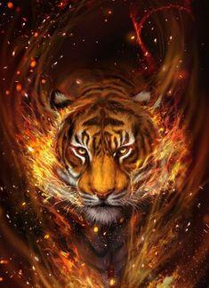 Lion Live Wallpaper, Wild Animal Wallpaper, Tiger Wallpaper, Tiger Artwork, Wolf Artwork, Big Cats Art, Cat Art, Majestic Animals, Animals Beautiful