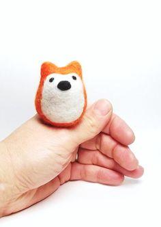 Felt fox, eco-friendly childs toy