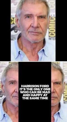 Harrison Ford - Sad and Happy At the Same time!