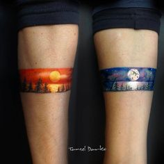 Day and night ink - Tattoo MAG Tattoo Band, Hand Tattoo, Tattoo Bracelet, Inspiration Tattoos, Mini Tattoos, Body Art Tattoos, Small Tattoos, Sleeve Tattoos, Tatoos