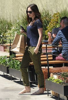 Family BBQ: Megan Fox picked up some BBQ in Studio City, California, on Sunday afternoon...