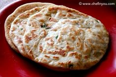 Kulchas: like naan only doesn't use yeast, thus easier to make. You don't need a tandoor either!