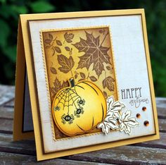 Happy Autumn - Scrapbook.com - #scrapbooking #cardmaking #rangerink #timholtz #autumn #fall