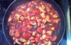 stewed chicken!
