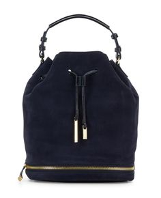 Halston Heritage - Suede   Leather Bucket Bag a3c7b3832ea82