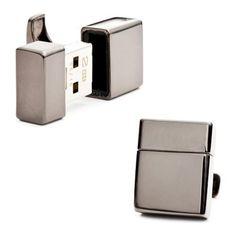 Men's Ravi Ratan 2GB USB Flash Drive Gunmetal