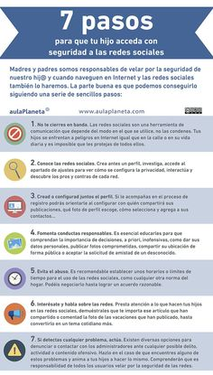 Una infografía en español que deben leer todos aquellos padres que se preocupan por la seguridad de sus hijos en las redes sociales.