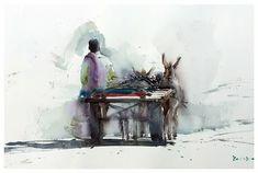 Eudes Correia: 2 тыс изображений найдено в Яндекс.Картинках Watercolor Portraits, Watercolor Paintings, Portrait Sketches, Watercolor Landscape, Watercolor Illustration, Graphic Design, History, Home, Artist