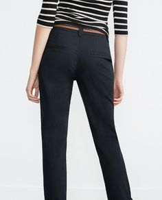 Image 5 of CHINOS WITH BELT from Zara