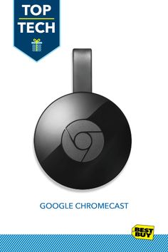 Google Chromecast (2015 Model) - Black :: Entertain every list in a big way with the Google Chromecast. Ask a friend or check out BestBuy.com® for one amazing Chromecast review after another. This streaming media player casts your favorite mobile entertainment straight to your home's big screen for a view that everyone will love: simply plug it in to your TV's HDMI port. Introducing holiday entertainment at its finest.