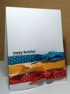 CAS190...Birthday Colours by HamiltonGal - Cards and Paper Crafts at Splitcoaststampers