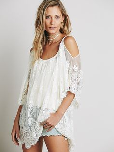Jen's Pirate Booty for Free People On the Open Road Lace Tunic at Free People Clothing Boutique