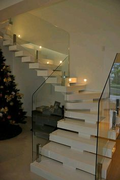 32 ideas internal stairs ideas modern for 2019 Stairs Ideas Ideas Internal Modern stairs Stair Lighting, Tiny House Stairs, House Exterior, House Design, Building Stairs, Modern Interior Design, Stair Railing Design, Modern Stairs, Modern