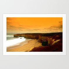 Seascape, Limestone Cliffs, Beaches, Waves, Sky, Abstract, Australia.