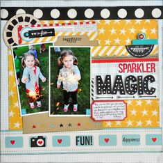Sparkler Magic ~NEW Simple Stories Say Cheese~ - Scrapbook.com