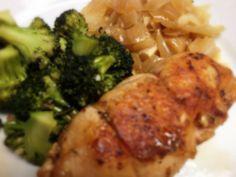 Chicken Cordon Bleu, Broccoli, and Sautéed Onions: 4/23/13