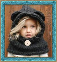 The Burton Bear Cowl Knitting Pattern.I wish this was a crochet pattern Knitting Projects, Crochet Projects, Knitting Patterns, Sewing Projects, Crochet Patterns, Knitting Ideas, Free Knitting, Baby Knitting, Cowl Patterns