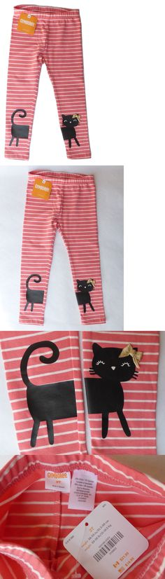 04a85be03c634b Bottoms 163175: Nwt Gymboree Kitty In Pink Coral Striped Kitten Leggings Sz  3T -> BUY IT NOW ONLY: $12.75 on #eBay #bottoms #gymboree #kitty #coral  #striped ...