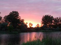 Zachód słońca  w Kędzierzyn  koźle  nad Odrą