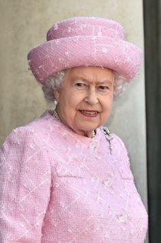 Queen Elizabeth, June 5, 2014 in Angela Kelly