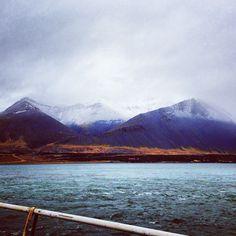the view from #Borgarnes #Hafnarfjall #mountain #Iceland #Borgarfjordur