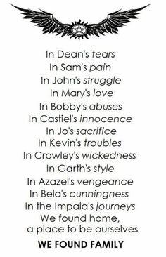 Beautiful Poem for Supernatural