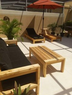 modern outdoor lounge chair | Do It Yourself Home Projects from Ana White