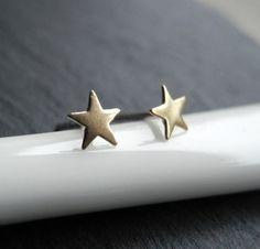 Star Earrings Teeny Tiny Star Studs Star Jewelry by MistyAurora
