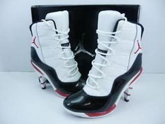 Nike Jordan Women High Heel Shoes black base. #Cheap #Nike #Shoes