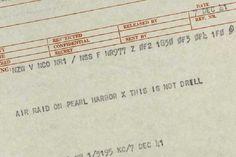 7 Dec 41- Telegram stating attack on Pearl Harbor
