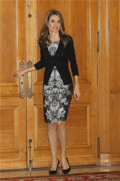 Love the fit and pattern of the dress and how the cardigan fits on top. Would be perfect in navy (not a fan of black)
