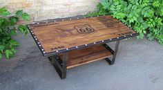 Rustic coffee table Industrial coffee table Industrial chic